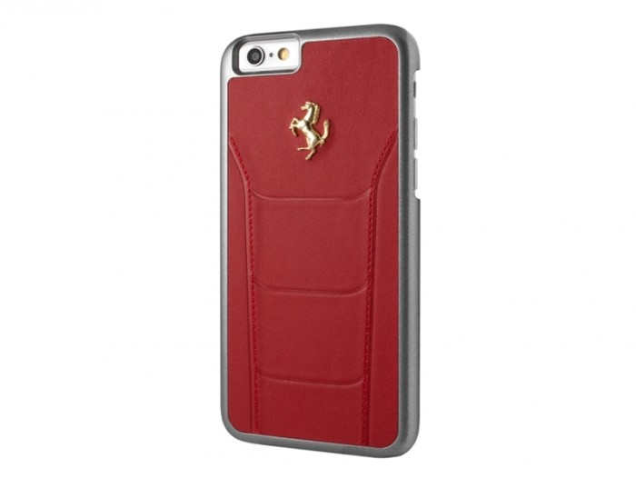 ferrari real debossed leather hardcase red FESEGHCP6RE