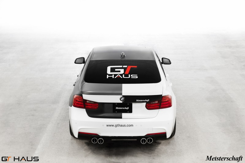 BMW F30 335i 4x90mm GTC + M-Tech Bumper.  Photographed in GTHAUS Loading Dock.