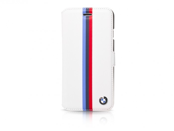 bmw motorsport collection pu leather booktype white BMFLBKP6SVSW